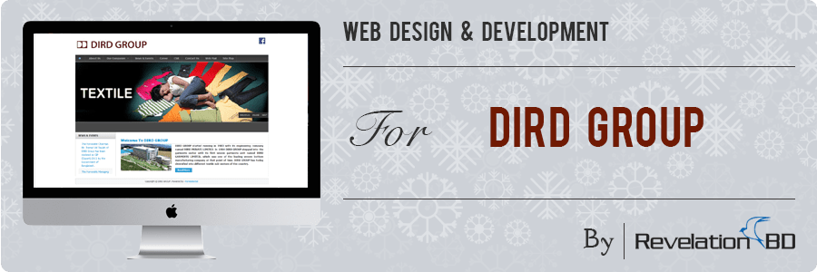 Professional Web Design and Development Project by Revelation BD for DIRD Group