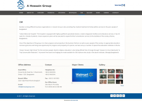 Basic Page - Professional Web Design and Development Project by Revelation BD for A Hossain Group