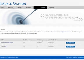 Career Page - Gallery Page - Best Garments Buying House Website Design and Development Project by Revelation BD in Bangladesh for Sparkle Fashion Ltd