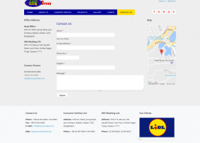Dynamic Contact page Design - Professional Web Design and Development Project by Revelation BD for EUROZONE GROUP