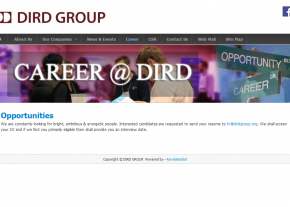 Career Page - Company Page - Professional Web Design and Development Project by Revelation BD for DIRD Group