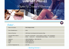 Digital Company Profile Page - Professional Buying House Company Web Design and Development Project by Revelation BD for RMJ Design